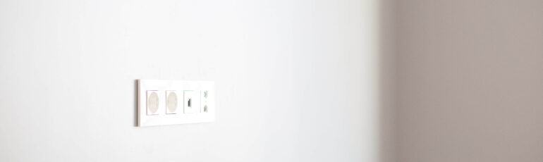 outlet plug in a wall